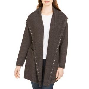 Style & co studded knit cardigan sweater
